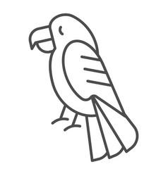 Parrot thin line icon bird vector