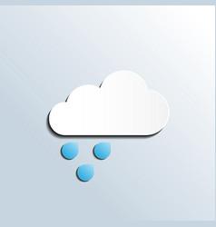 rainy weather forecast icon vector image