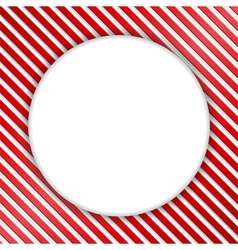 Round Banner on Striped Background vector