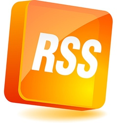 Rss Icon vector image