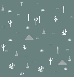 seamless pattern with indian tents pyramids and vector image