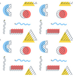 shape memphis seamless pattern vector image