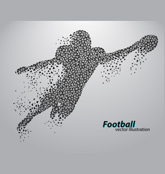 Silhouette a football player from triangle vector