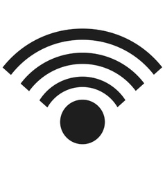 simple wifi icon vector image