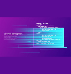 software development programming coding vector image
