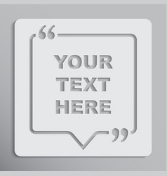 speech bubble square empty quote bracket vector image
