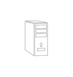 System unit of a computer flat icon vector