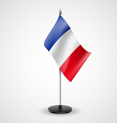 Table flag of France vector