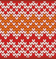 tile zig zag knitting pattern or winter background vector image