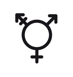 Transgender symbol gender and sexual orientation vector