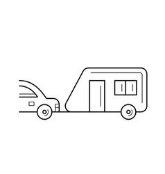 trip trailer line icon vector image