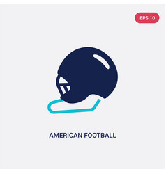 two color american football helmet icon from vector image