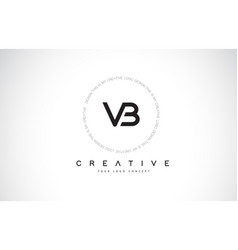 Vb v b logo design with black and white creative vector