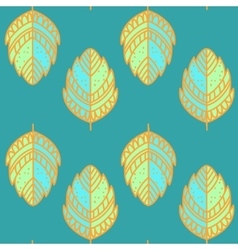 Vntage leaf pattern vector