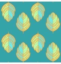 Vntage leaf pattern vector image