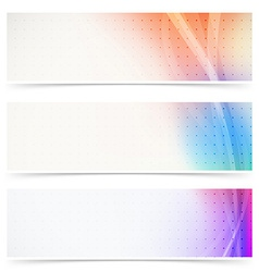 Web header abstract wave line collection vector image