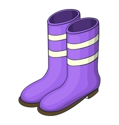 Work boots icon cartoon style vector