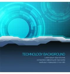 futuristic technical background vector image