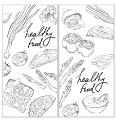 Healthy and Hearty Food Organic restaurant banner vector image