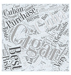 How to purchase cigars from cuba word cloud vector