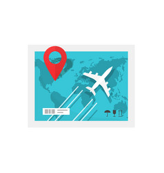 air delivery service concept flat cartoon plane vector image