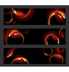 Banner with fire circles vector image