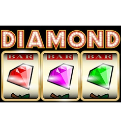 Slot Machine with diamonds vector image