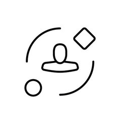Symbol of Ambient User Experience Thin line Icon vector image vector image