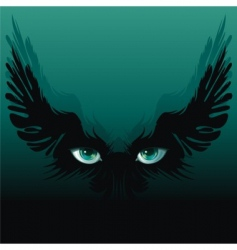 winged eyes vector image