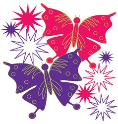 Butterfly Starburst vector image