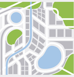 city map with streets highways and areas gps vector image