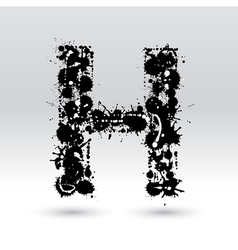 Letter H formed by inkblots vector image
