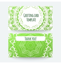 Set of business card and invitation card templates vector image vector image