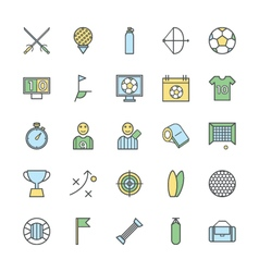 Sports Bold Icons 2 vector image vector image