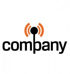wireless technology logo vector image