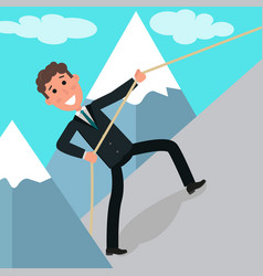 concept of business challenge businessman or vector image