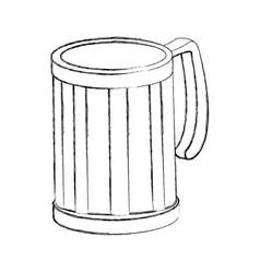 glass mug empty beverage drink icon vector image