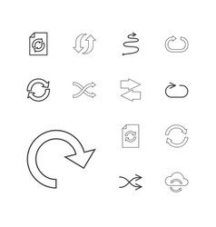 13 repeat icons vector