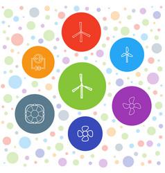 7 turbine icons vector