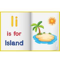A picture of an island in a book vector image