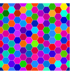 abstract colorful honeycomb pattern vector image