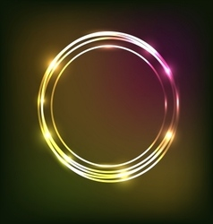 Abstract colorful neon background with circles vector image