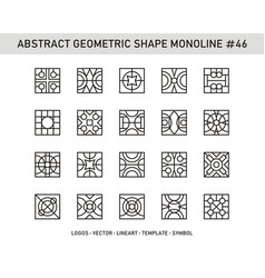 Abstract geometric shape monoline 46 vector