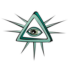 all seeing eye mystic sign vector image