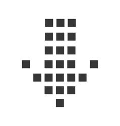 arrow down direction vector image