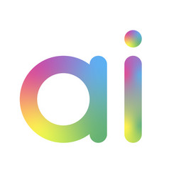 artificial intelligence logo ai letter vector image