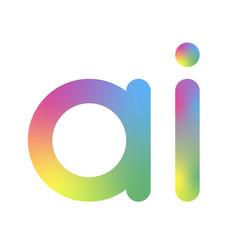 Artificial intelligence logo ai letter vector