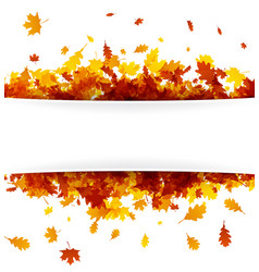 autumn banner with golden leaves vector image