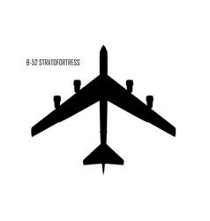 B-52 stratofortress silhouette vector