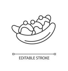 banana split linear icon vector image